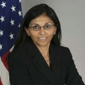 Ms. Nisha Desai Biswal, Asst Secretary of State, South & Central Asian Affairs, U.S. Dept of State